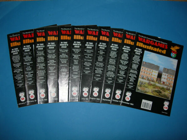 Multi-listing Wargames Illustrated Magazine 1993-questioni 65 A 73