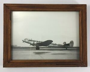 PHOTO TIRAGE ANCIEN AVION BLOCH 161 LANGUEDOC AIR FRANCE F BCUN CADRE BOIS H951