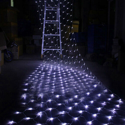 Waterproof LED Net Mesh Fairy String Party Lights Lamp Xmas Christmas Decor Tree