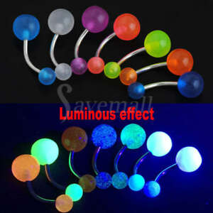 7Pcs-a-lot-Glow-Dark-Belly-Button-Navel-Bar-Rings-Body-Piercing-Jewelry-Newly