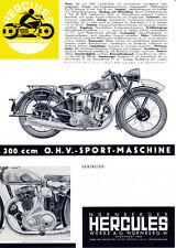 Hercules - 200 ccm Motorrad - Prospekt - 1935  - Deutsch -  nl-Versandhandel