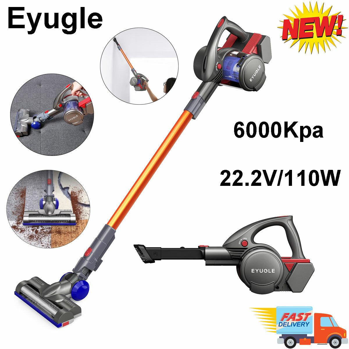 Eyugle 1 en 2-sans fil Aspirateur à main électrique Plancher Brosse 6000Kpa 110 W