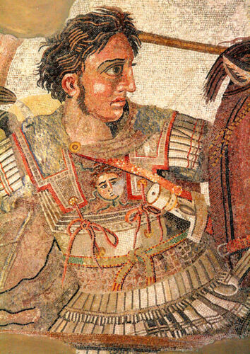 Print//Poster Battle of Issus Mosaic; Alexander The Great 5407