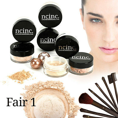 15pc Mineral Makeup Set Kit NCinc Bare Skin Minerals Foundation Set - FREE GIFT