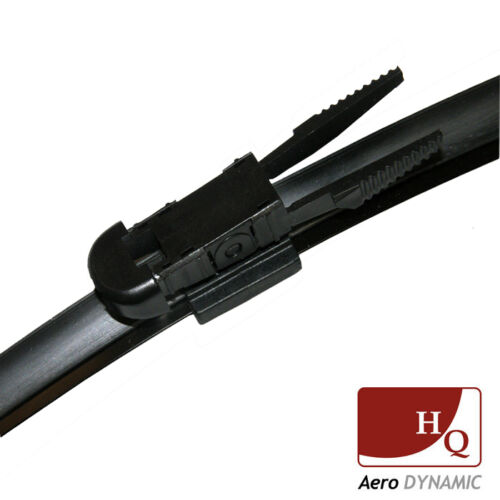"""Mini HQ Aero FLAT BRACKETLESS WIPER BLADES AD02-023 22/"""" 22/"""" fit BMW 1 Series"""