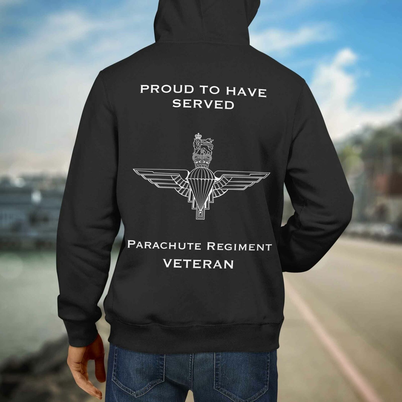 Paracadute Reggimento Premium Felpa Con Cappuccio VETERANI (040)