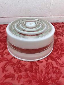 Vintage-Mid-Century-Flush-Mount-Ceiling-Milk-Glass-Shade-8-1-4-x-4-034-Globe