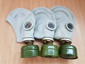 Gas-Mask-GP-5-Respiratory-Versatile-Protective-LOT-of-3-Russian-Soviet-Army-USSR