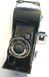 Ensign-Selfix-420-Folding-120-Film-Camera-Ensar-Anastigmat-105mm-f-4-5-Lens-Case