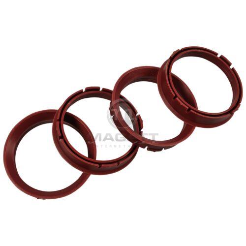 Anelli di centraggio 4x 66,45-57,1 mm per SKODA//Chrysler//MAZDA 6//AUDI//VW