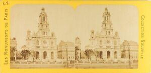 Francia-Parigi-Eglise-da-la-Sainte-Trinita-Foto-PL61Ln-Stereo-Vintage-Albumina