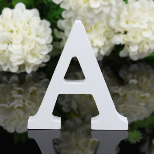 Retro Wooden Letters Alphabet Wall Hanging Decor Wedding Party Home Ornament DIY