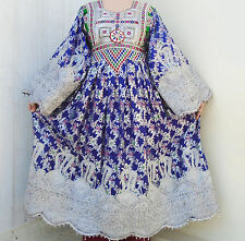 Afghan Banjara Tribal Boho Hippy Vintage Handmade Multicolored Kuchi Dress UD-04