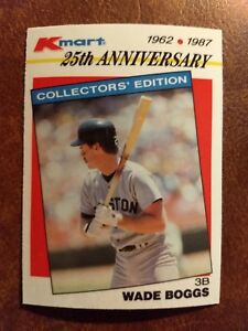 Details About 1987 Topps Kmart Stars Of The Decade Baseball Card 23 Wade Boggs
