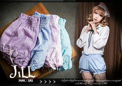LIZ LISA snidel amavel vivi macaron bakery maid mini plaid bloomer shorts JN2015