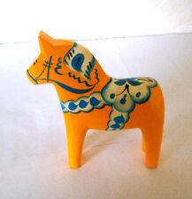 "New 5"" Swedish Dala Horse Hand Carved/Painted w/Free Bookmark - - Yellow"