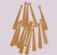 100PCS solo agujero largo Pendientes de Cobre de Joyería Colgante de Artículo Accesorio 30mm