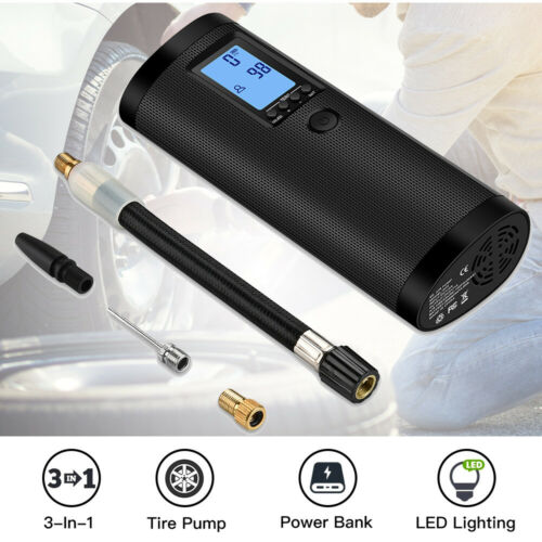 Electric Intelligent Air Inflator 3-In-1 Tire Ball Pump With LCD Digital Display