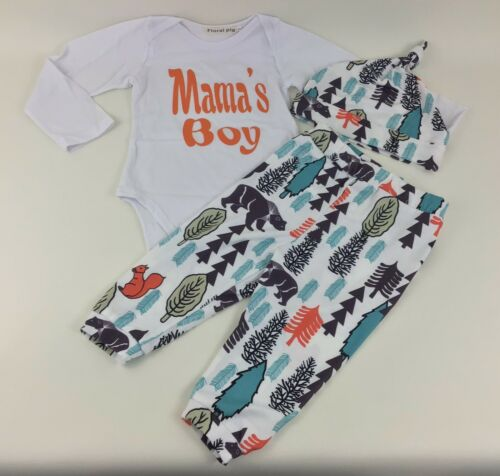 - 24 Mo Set 18 Mo Boy/'s Outfit 18-24m 3Pc Mama/'s Boy Nature Outdoors Hat New
