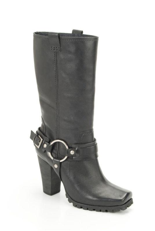 Bronx Schuhe Damen- Stiefel Lederstiefel in Schwarz NEU