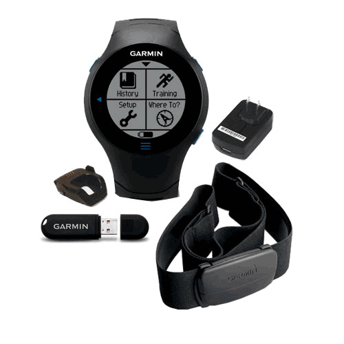 GARMIN FORERUNNER 610 GPS FITNESS SPORTS WATCH BUNDLE HRM + USB ANT 010-00947-10
