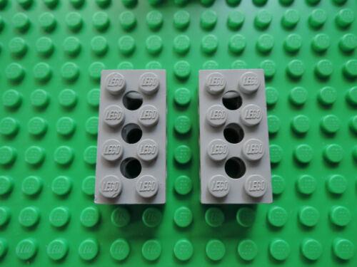800 801 LEGO 2 x Technic Stein Lochstein  3709c alt hellgrau 2x4  Noppe geschl