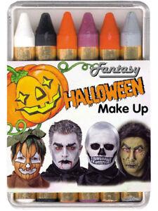 6 Halloween Stifte Karneval Schminke Grusel Make Up Ebay
