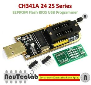 Details about CH341A 24 25 Series EEPROM Flash BIOS USB Programmer with  Software & Driver