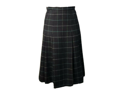 Vintage BURBERRYS wool maxi pleated skirt, size M