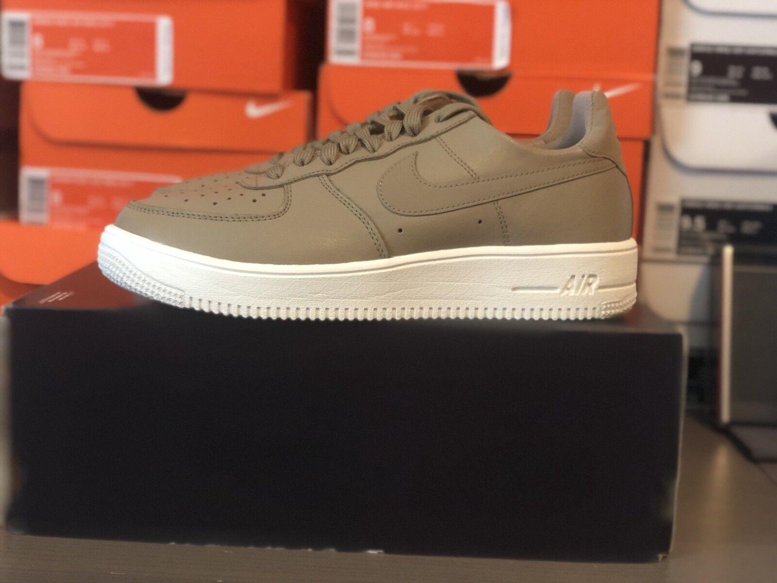 Nike Air Force 1 Ultraforce LTHR Athletic shoes SZ 7.5 Khaki  White-845052 203