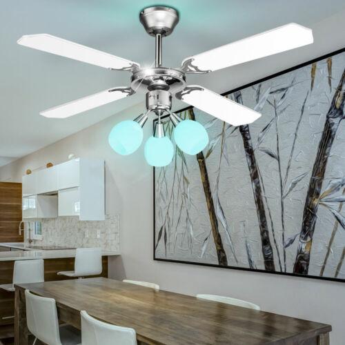 Decken LED RGB Fernbedienung Ventilator Lüfter Lampe Zugschalter Kühler dimmbar