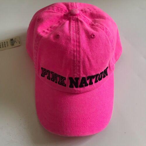 Victoria's Secret Pink Nation Hot Pink Baseball Hat Cap One Size New