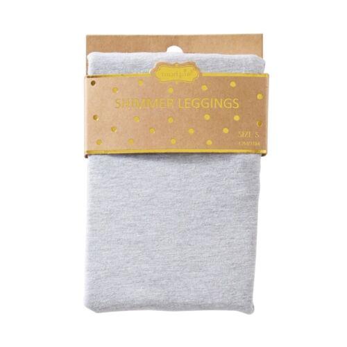 Mud Pie H7 Baby Girl Shimmer Jersey Leggings 1212005 Choose Pink OR Gray