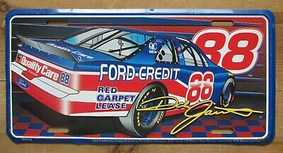 The Best 1990's Dale Jarrett #88 Quality Care Ford Credit Nascar Booster License Plate Moderate Cost