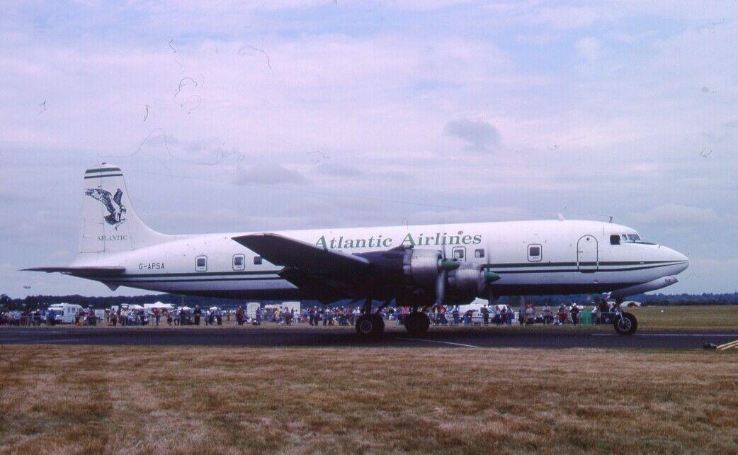 Original 35mm Aircraft slide    G-APSA DOUGLAS DC-6A  NO1