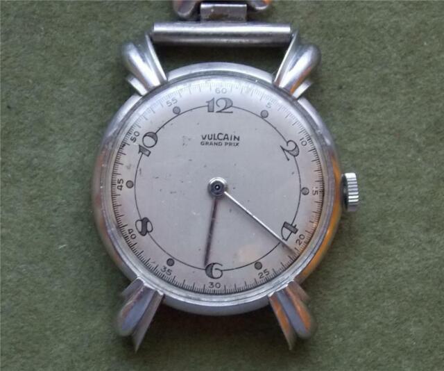 Rare Vintage Art Deco Vulcain Grand Prix Mans Hand Wind Watch