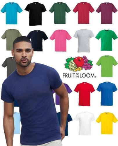 Fruit of The Loom T Shirts Short Sleeve 100/% Cotton Plain Tee Men Women