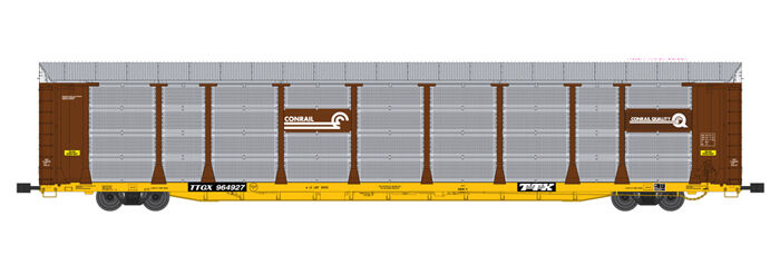 USA Trains G Scale BI LEVEL AUTO CARRIER R17175 Conrail tuscan yellow