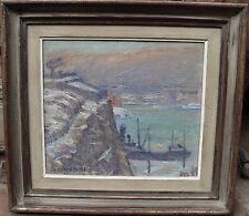 """Georg Lodstroem 1915-1972 , """"Nave im Fjord"""", datato 1946"""