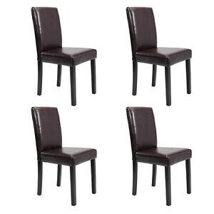 Fantastic Details About Set Of 2 4 6 8 10 Pcs Leather Elegant Design Dining Chairs Home Black Brown Creativecarmelina Interior Chair Design Creativecarmelinacom