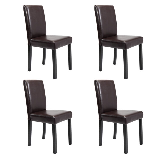 Stupendous Set Of 2 4 6 8 10 Pcs Leather Elegant Design Dining Chairs Home Black Brown Alphanode Cool Chair Designs And Ideas Alphanodeonline