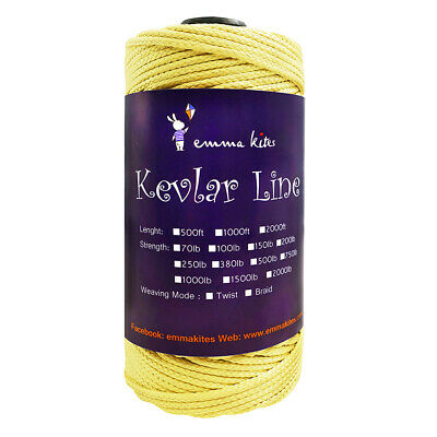 KEVLAR TWISTED LINE STRING 1000FT 200LB FOR POWER STUNT KITE FLYING CAMPING CORD