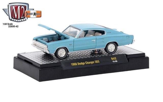 M2 Machines 1 64 Detroit Muscle Release 42 1966 Dodge Charger 383 Light Blue For Sale Online Ebay
