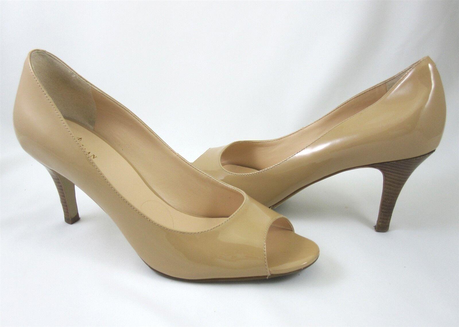Cole Haan Aire Lainey 8.5 B arenisca Nude Nude Nude Charol Zapatos De Salón Abierto Dedos de los pies  Entrega gratuita y rápida disponible.