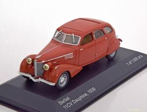BERLIET-11CV-DAUPHINE-1939-LIGHT-RED-WHITEBOX-WB100-1-43-ROUGE-CLAIR-ROSSO-ROT
