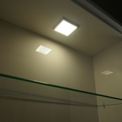 LED KITCHEN UNDER CABINET CUPBOARD LIGHT SQUARE SURFACE 6MM FLAT PANEL LIGHT