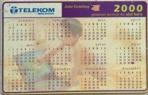 Malaysia-Used-Phone-Cards-Calendar-2000