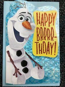 Phenomenal Disney Frozen Olaf Happy Birthday Card 68981171874 Ebay Funny Birthday Cards Online Barepcheapnameinfo