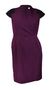 Calvin-Klein-Women-039-s-Faux-Suede-Gabardine-Dress