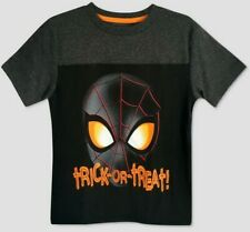 Gymboree 5T Halloween Spiderman tee shirt pumpkin white ss Marvel NWT